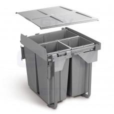 сегрегатор для кухонных шкафов 600 мм 34 + 2х17л с креплением