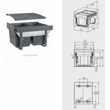 Сегрегатор GTV для кухонных шкафов низкий 450 мм 2х15л Графит